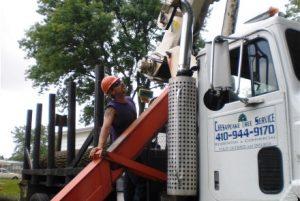 Crane Operator Looking Up